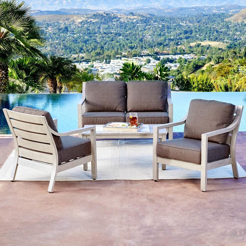 4pc South Beach Conversation Set - Royal Garden, Tan