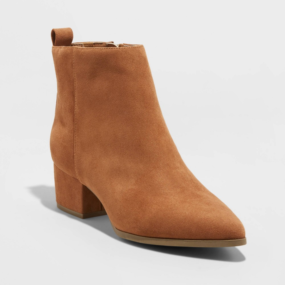 Women 39 S Valerie City Ankle Bootie A New Day 8482 Cognac 12