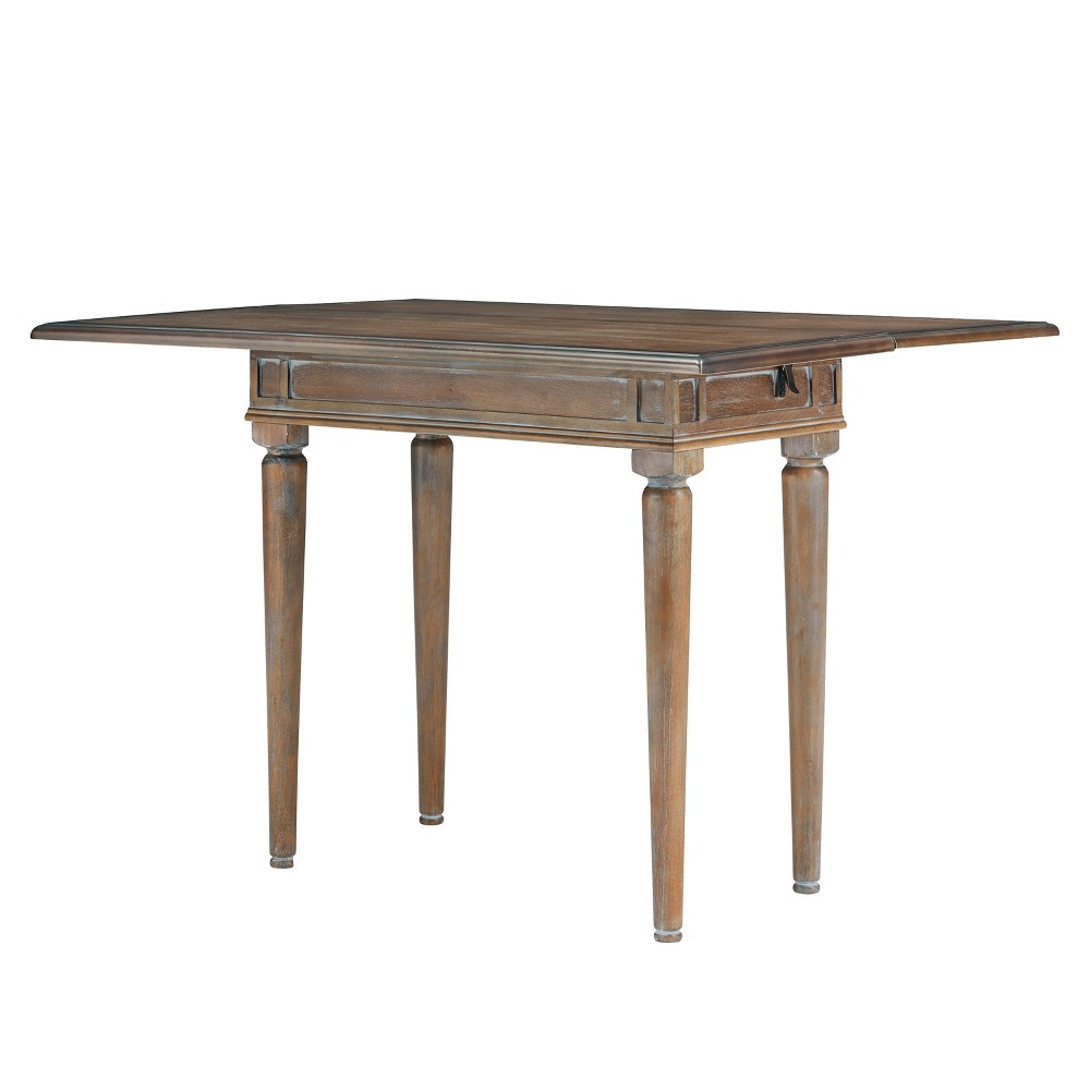 Ladena Convertible Console To Dining Table White Limed Burnt Oak - Aiden Lane