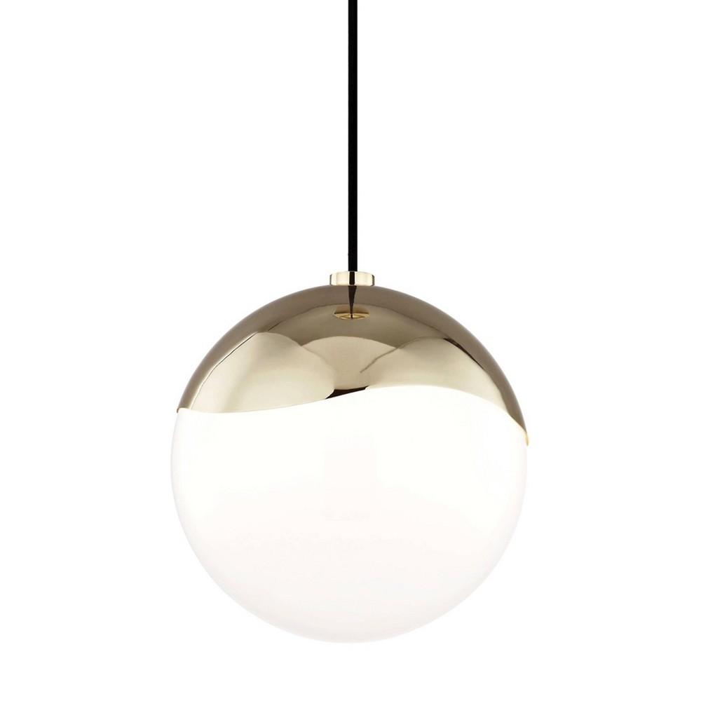 Ella 1-Light Large Pendant Chandelier Aged Brass - Mitzi by Hudson Valley Best