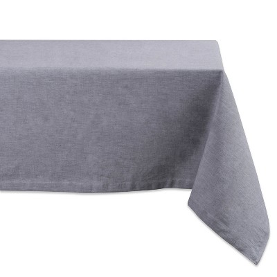 104 x60  French Chambray Tablecloth Gray - Design Imports