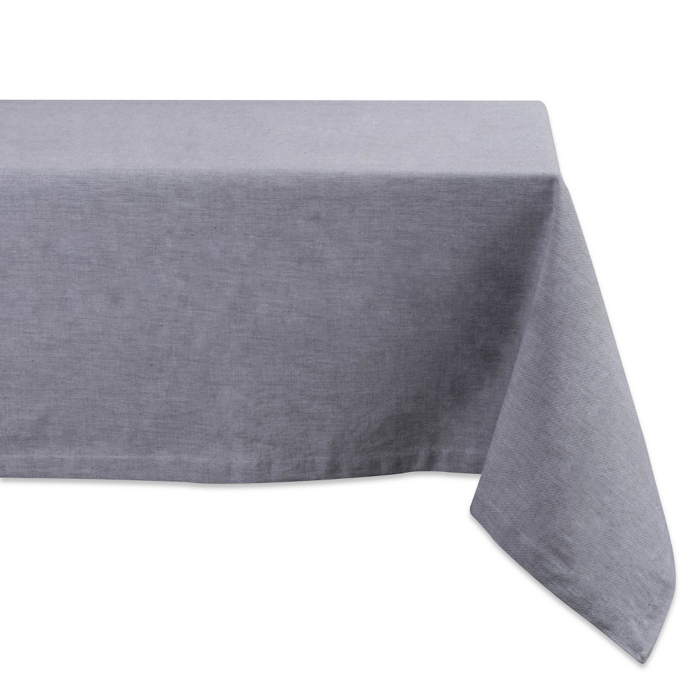 "Image of ""104""""x60"""" French Chambray Tablecloth Gray - Design Imports"""