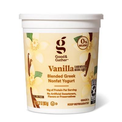Greek Vanilla Nonfat Yogurt - 32oz - Good & Gather™