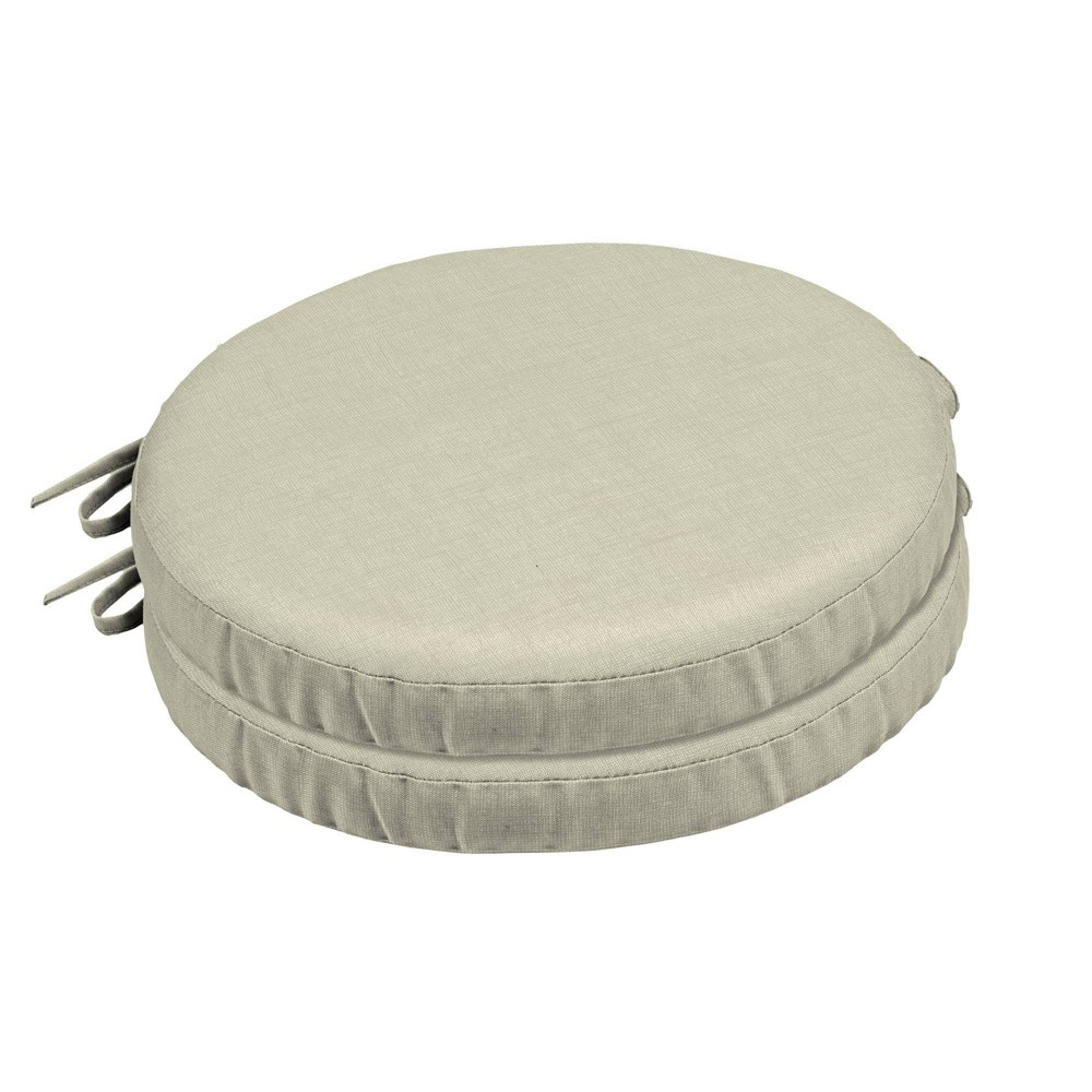 Image of 2pk Ashland Jacobean Outdoor Seat Cushions Cream - Arden Selections, Black