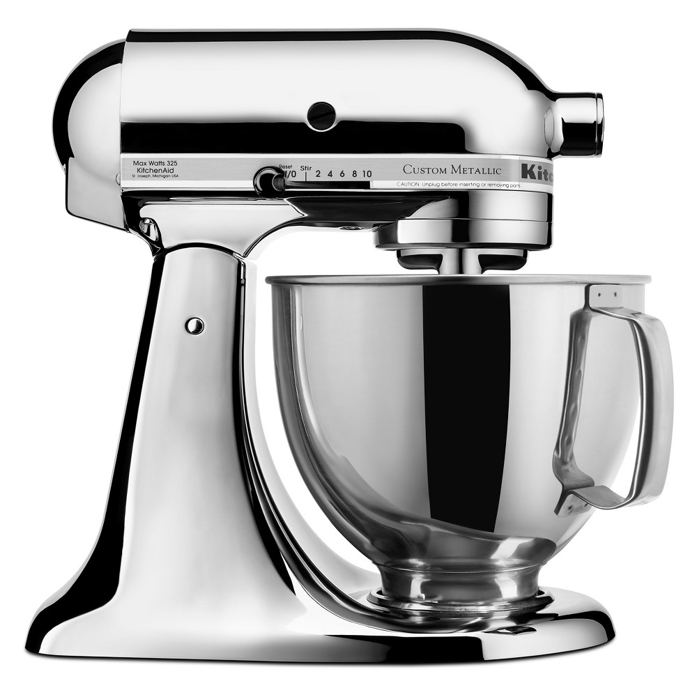 KitchenAid Refurbished 5qt Artisan Stand Mixer Chrome (Grey) – RRK150CR 53960982
