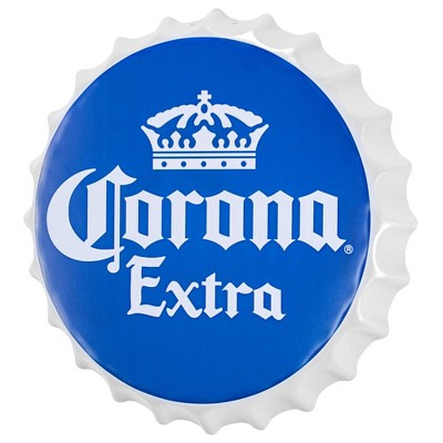 Corona Extra Bottle Cap Shaped Beer Wall Decor Dark Blue - Crystal Art Gallery