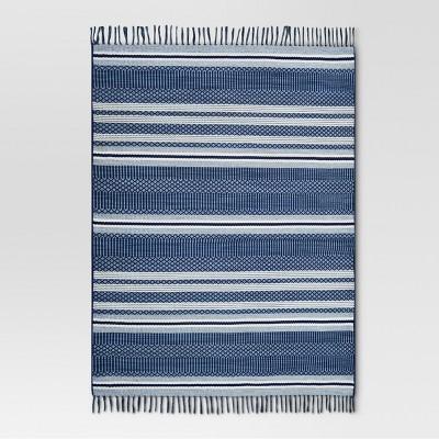 Global Stripe Blue Outdoor Rug - 5'x7' - Threshold™