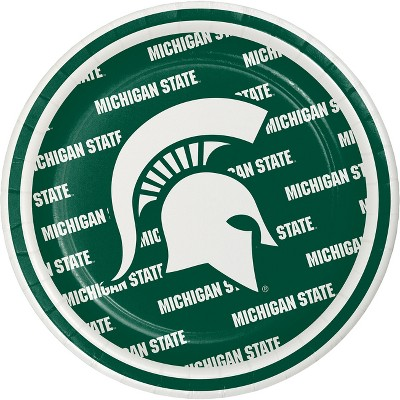 "8ct Michigan State University 7"" Dessert Plates - NCAA"