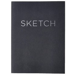 "Blank Sketchbook 8""x 11"" Black- Piccadilly"