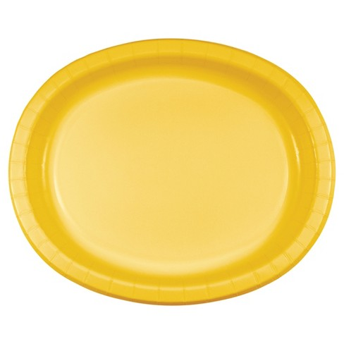"School Bus Yellow 10"" x 12"" Oval Platters - 8ct - image 1 of 1"