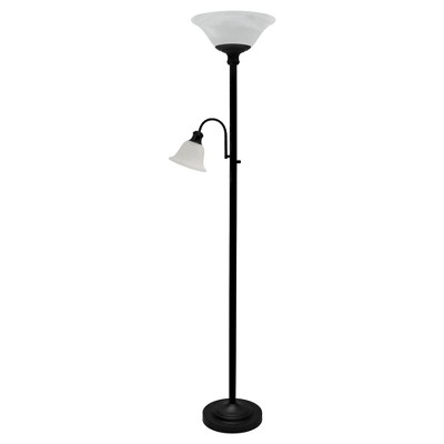 Torchiere Alabaster Glass Floor Lamp Bronze Lamp Only - Threshold™