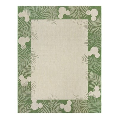 Mickey Mouse Palm Border Outdoor Rug