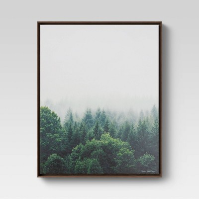 "24""x30"" Forest Framed Wall Canvas - Threshold™"