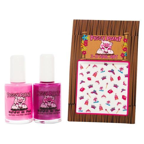 Piggy Paint Non Toxic Nail Polish With Princess Nail Art Set Target