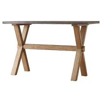 """50"""" Westbrook Zinc Topped Console Table - Inspire Q"""