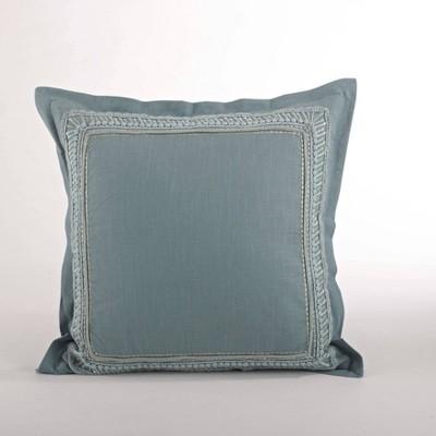 Down Filled Lace Pillow Design Sea Green - Saro Lifestyle