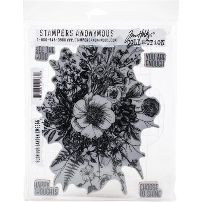 """Tim Holtz Cling Stamps 7""""X8.5""""-Glorious Garden"""