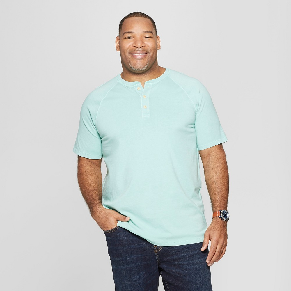 Men's Big & Tall Regular Fit Short Sleeve Henley Shirt - Goodfellow & Co Alpine 3XBT