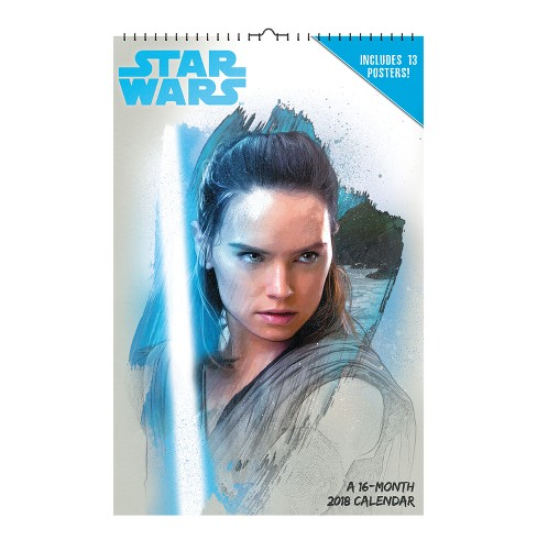 2018 Star Wars: The Last Jedi Oversized Wall Calendar -Trends International - image 1 of 4