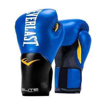 Everlast Pro Style Elite Exercise Workout Training Boxing Gloves for Sparring, Heavy Bag and Mitt Work, Size 12 Ounces, Blue