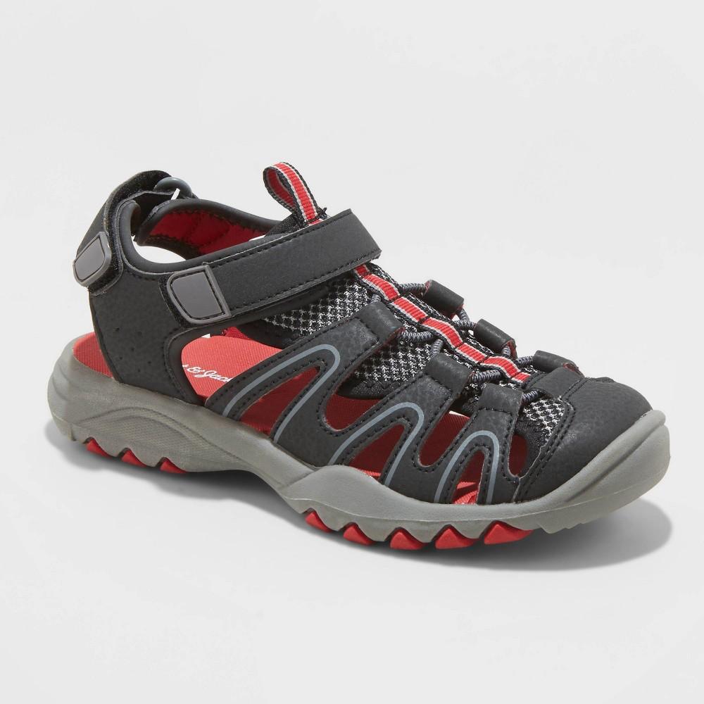 Image of Boys' Juno Hiking Sandals - Cat & Jack Black 13, Toddler Boy's
