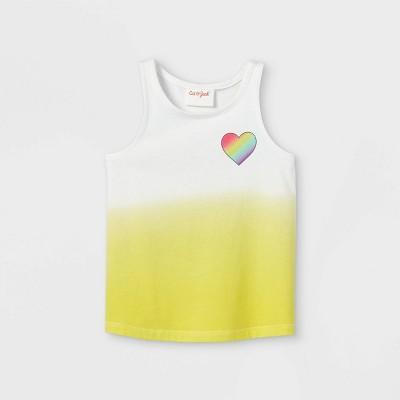 Toddler Girls' Heart Dip-Dye Tank Top - Cat & Jack™ Yellow