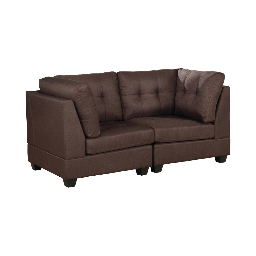 Image of Huxon Tufted Loveseat Brown - ioHOMES