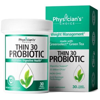 Physician's Choice Thin 30 15 Billion CFUs Probiotic Capsules - 30ct