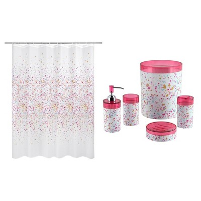 6pc Confetti Bath Set Pink - Allure Home Creations