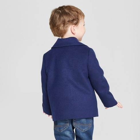 af449c27ba76 Toddler Boys  Faux Wool Pea Coat - Cat   Jack™ Navy   Target