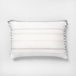 Knotted Fringe Stripes Throw Pillow - Hearth & Hand™ with Magnolia