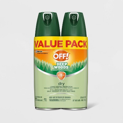 OFF! Deep Woods Dry Insect Repellent VIII - 4oz/2ct
