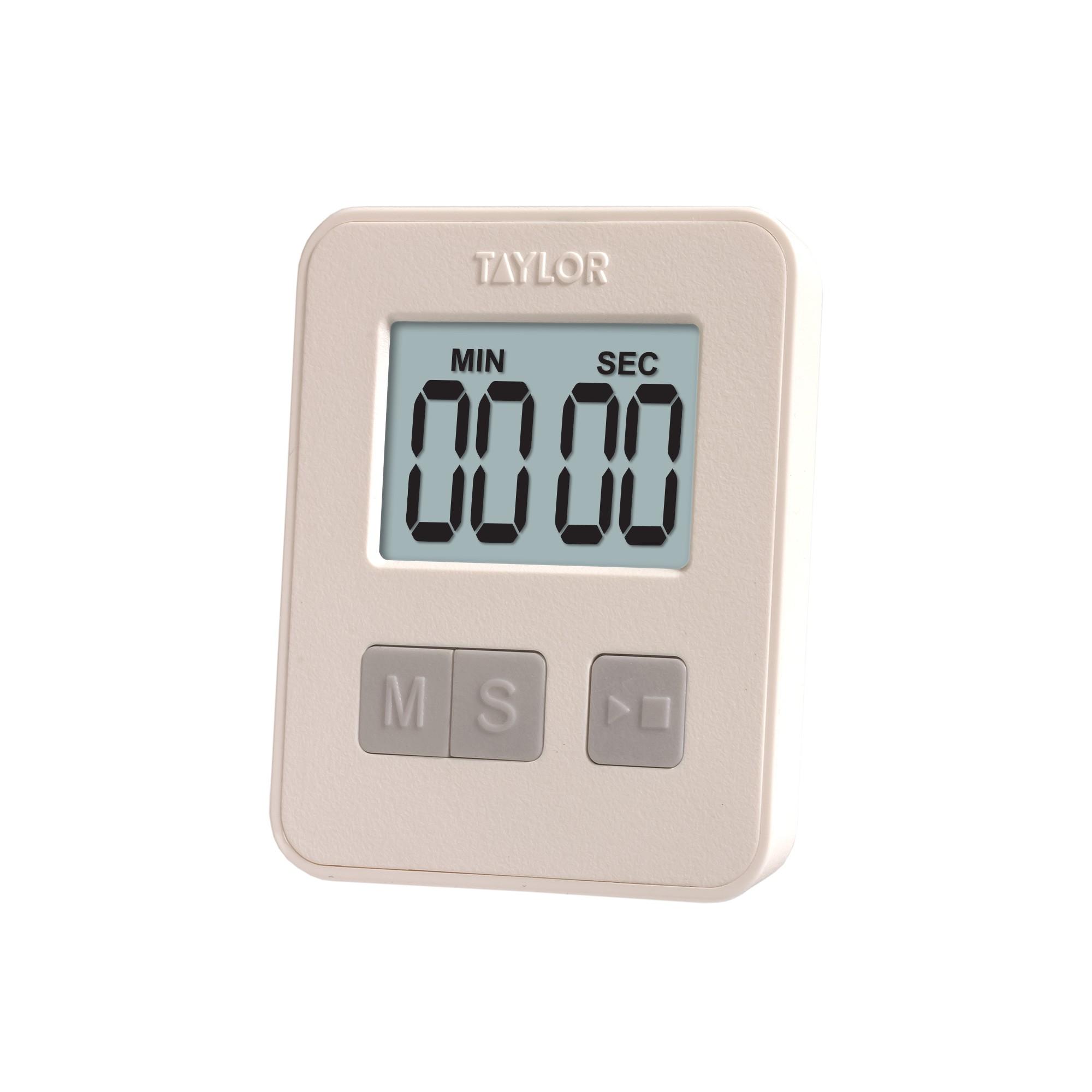 Taylor 99 Minute Slim Digital Timer, White