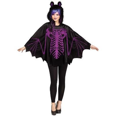 Adult Poncho Bat Halloween Costume