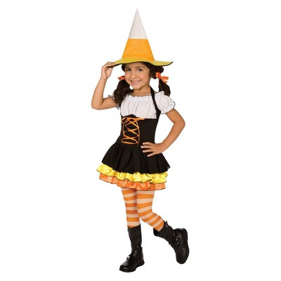Girls' Little Candy Corn Witch Costume