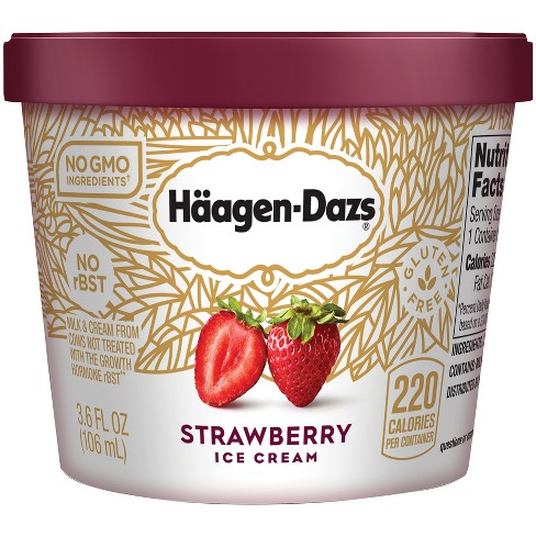 Haagen-Dazs® Strawberry Ice Cream - 3.6oz - image 1 of 1
