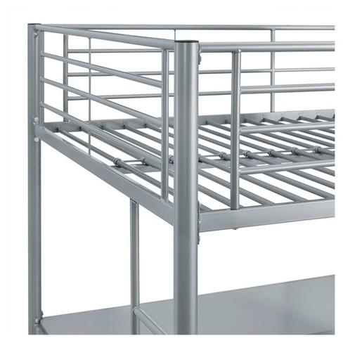 Premium Metal Full Size Loft Bed Silver Saracina Home Target