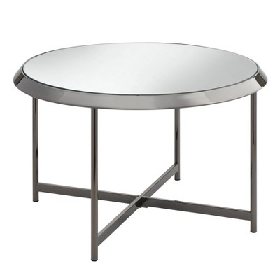 Carly Nickel Coffee Table Black - Buylateral