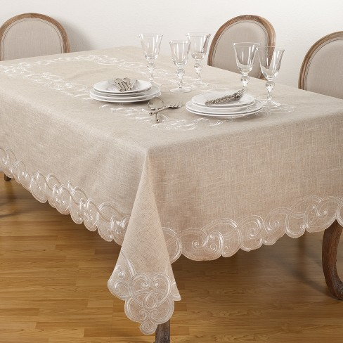 Embroidered Design Tablecloth - image 1 of 2