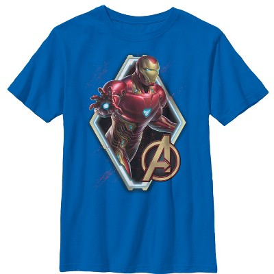 Boy's Marvel Avengers: Endgame Iron Man Frame T-Shirt