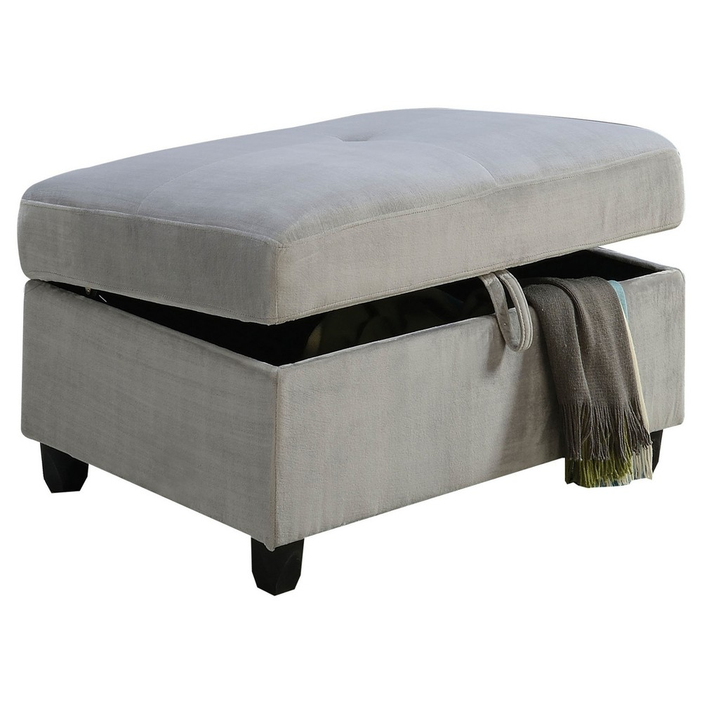 Storage Ottomans Acme Furniture Gray Storage Ottomans Acme Furniture Gray Gender: Unisex.