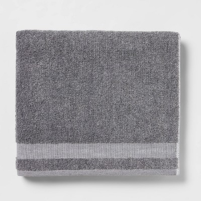 Solid Bath Towel Dark Gray - Made By Design™