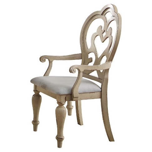 Abelin Arm Dining Chair (Set of 2) - Antique White - Acme - image 1 of 2