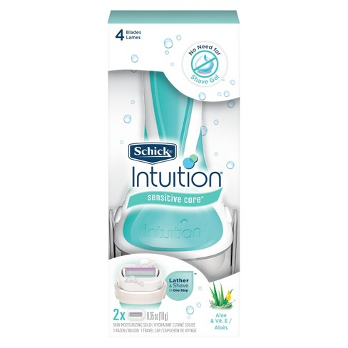 Schick Intuition Sensitive Care Women's Razor - 1 Razor Handle and 2 Refills - image 1 of 3