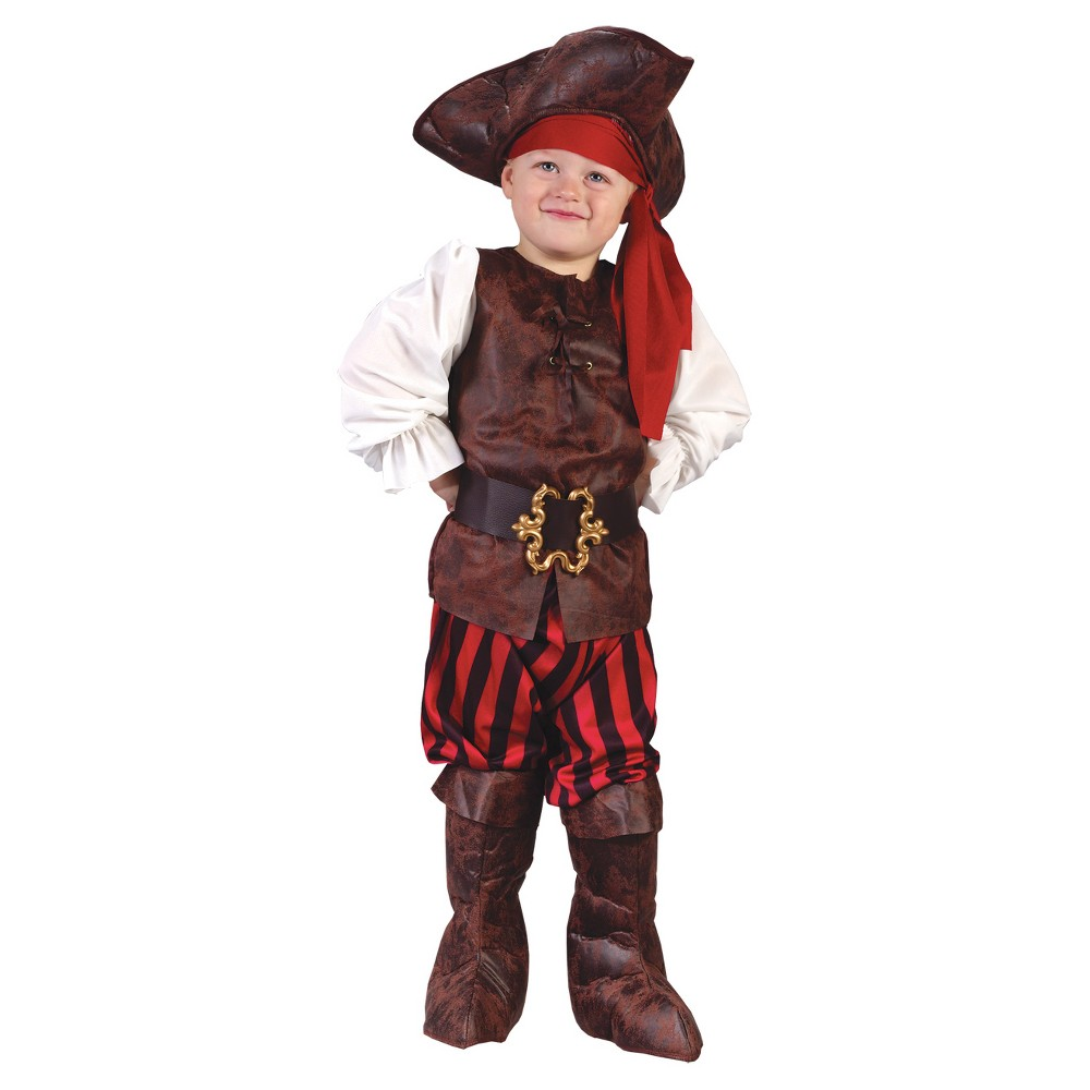 Boys' High Seas Pirate Toddler Costume Boy, Size: 3T-4T, Multi-Colored