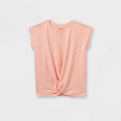Girls' Twist-Front Short Sleeve T-Shirt - Cat & Jack™