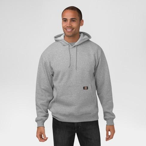 0f437f8875 Dickies® Men's Big & Tall Midweight Fleece Pullover Hoodie- Heather ...