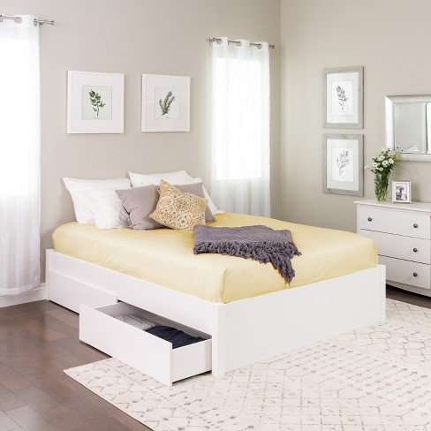 Select 4 - Post Platform Bed with 4 Drawers - Prepac - image 1 of 4