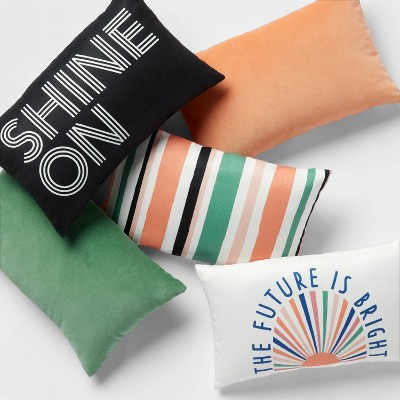 $5 Colorful Solid Velvet and Fun Patterned Pillow Collection - Room Essentials™