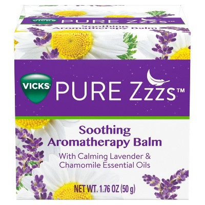 Vicks Pure Zzzs Lavender & Chamomile Soothing Aromatherapy Balm with Essential Oils - 1.76oz